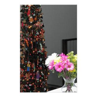 De het kleurrijke Boeket en Kerstboom van de Bloem Briefpapier