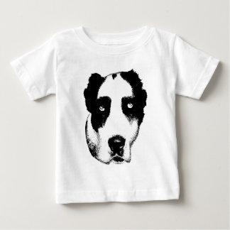 De het Letten op Hond Baby T Shirts