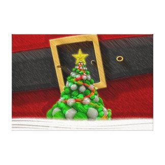De het leuke Kostuum en Kerstboom van de Kerstman Canvas Afdruk