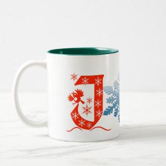 de het ontwerp noel vakantie van vreugdeKerstmis Tweekleurige Koffiemok