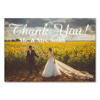 De het ontwerpkaart van het huwelijk dankt u kaart