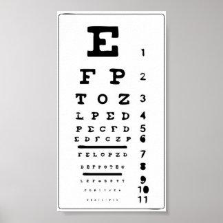 De het postergrafiek van het oog test uw druk van poster