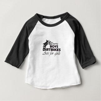 de het vuilfietsen van de jongen zijn voor meisjes baby t shirts