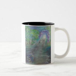 De het Welkom heten Weg Tweekleurige Koffiemok