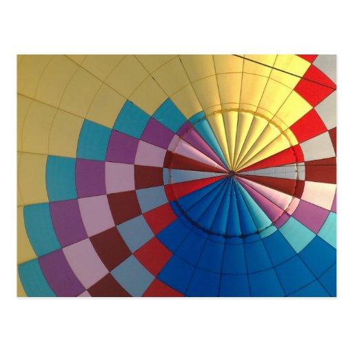 De hete luchtballon van de envelop wenskaarten