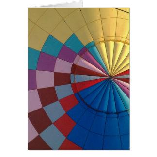 De hete luchtballon van de envelop kaart
