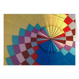 De hete luchtballon van de envelop wenskaart