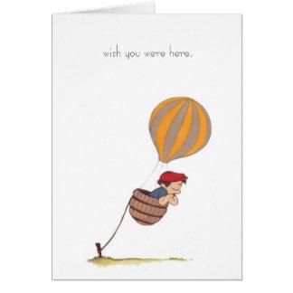 de hete luchtballon wenst dit u hier notecard wa