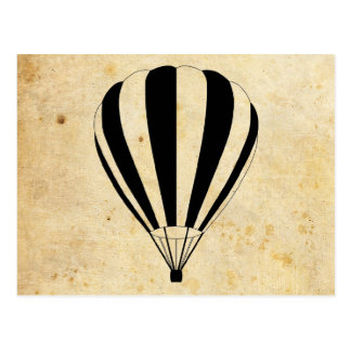 de hete luchtballons van de zonscène briefkaart