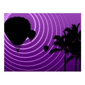 de hete luchtballons van de zonscène wens kaarten