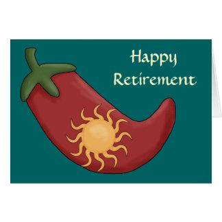 De hete Rode Westerne Pensionering van de Peper Briefkaarten 0