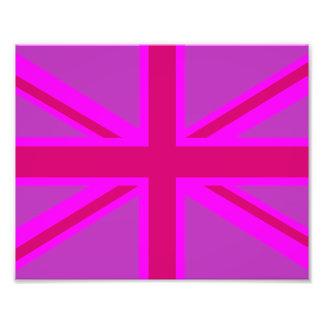De hete Roze Achtergrond van de Vlag van Fushia Un Fotoafdruk