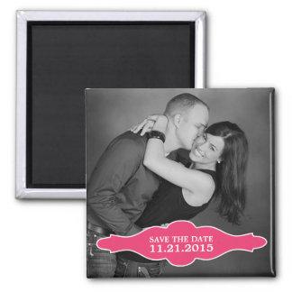 De hete Roze Foto van La Bon Vie bewaart de Vierkante Magneet