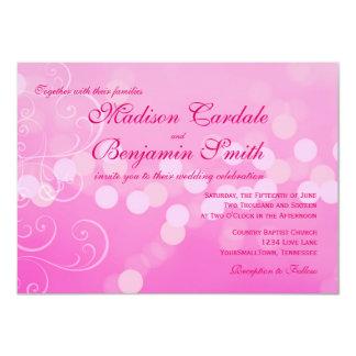 De hete Roze Fuchsiakleurig Uitnodigingen van het