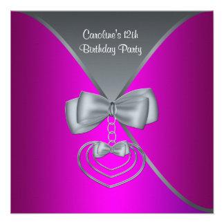 De hete Roze Partij van de Verjaardag van de Meisj Aankondigingen