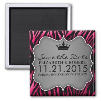 De hete Roze Zwarte Untamed Gestreepte Druk bewa Koelkast Magneten