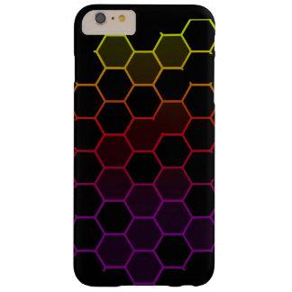 De Hexuitdraai van de kleur op Zwarte Barely There iPhone 6 Plus Hoesje