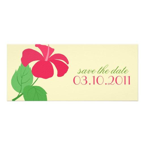 De hibiscus bewaart de Aankondiging van de Datum