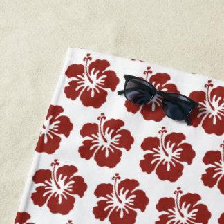 De hibiscus bloeit de Tropische Handdoek van het