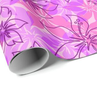 De Hibiscus Hawaiiaanse Camo van Olowalu Cadeaupapier
