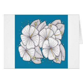 De Hibiscus van Zentangle met de Blauwe Hemel van