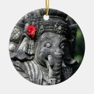 De Hindoese God van de olifant van Ganesha Rond Keramisch Ornament