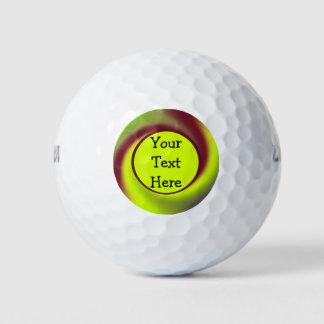 De hip Gele Bruine Samenvatting van de Werveling Golfballen