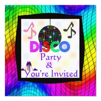 De hip het Dansen van de Disco Uitnodiging van de