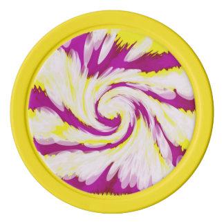 De hip Roze Gele Witte Samenvatting van de Pokerchips