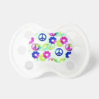 De hip Tekens Flower power Aqua van de Vrede van Baby Speentjes