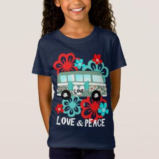 De Hippie Flowery Camper Van Fun Graphic van de T Shirt