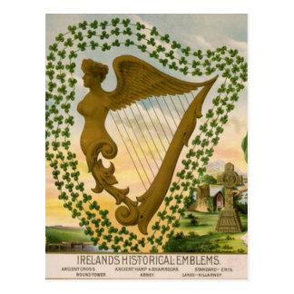 De Historische Emblemen van Ierland Briefkaart