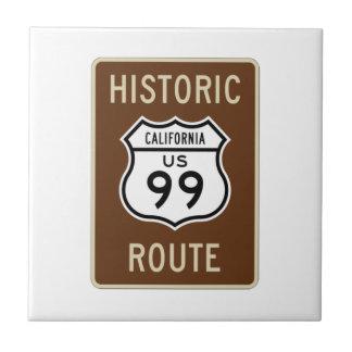 De historische Route de V.S. leidt Teken 99 (van Keramisch Tegeltje