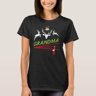 De Hoef van het Rendier van de oma drukt Kerstmis T Shirt