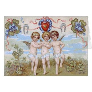 De HoefijzerKlaver van de Engel van de cherubijn Briefkaarten 0