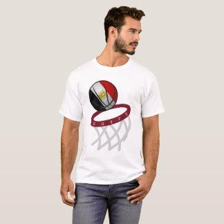 De Hoepel van het Basketbal van de Vlag van Egypte T Shirt