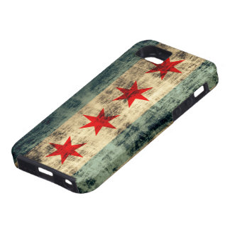 De hoesje-Partner van de Vlag van Chicago van Grun Tough iPhone 5 Hoesje