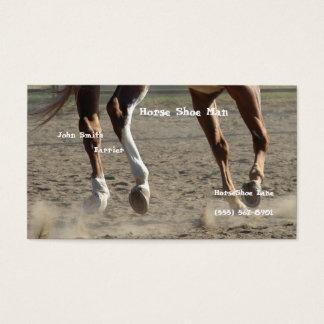 De Hoeven van het paard in Motie Visitekaartjes