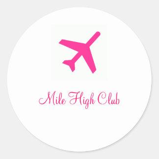 De Hoge Aangepaste Club van de mijl - Ronde Sticker
