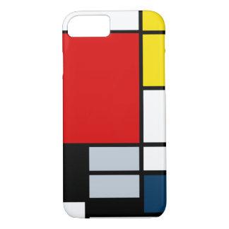 De hoge Samenstelling van Onderzoek Piet Mondrian iPhone 8/7 Hoesje