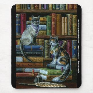 De hogere het Leren Katten Mousepad van de Muismat