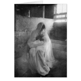De holding Jesus van Mary in Stabiel Wenskaart