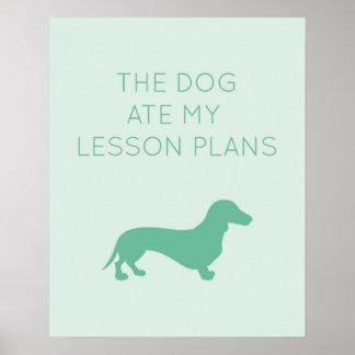 De hond at Mijn Plannen van de Les - Tekkel Poster