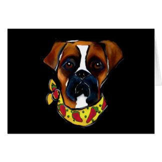 De Hond Cinco DE Mayo van de bokser Wenskaart