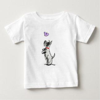 De Hond & de Vlinder van Scottie Baby T Shirts