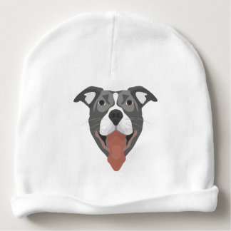 De Hond die van de illustratie Pitbull glimlachen Baby Mutsje