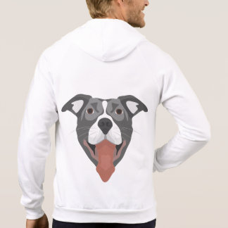 De Hond die van de illustratie Pitbull glimlachen Sweater
