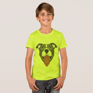 De Hond die van de illustratie Pitbull glimlachen T Shirt