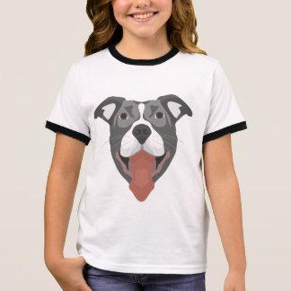 De Hond die van de illustratie Pitbull glimlachen T Shirts