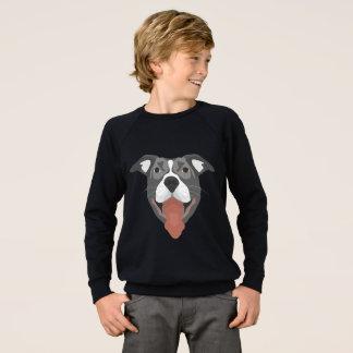 De Hond die van de illustratie Pitbull glimlachen Trui